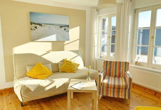 Wohnbereich im Appartement Yellow