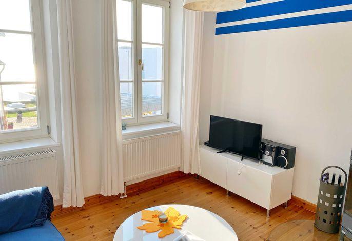 Wohnbereich im Appartement Dark Blue