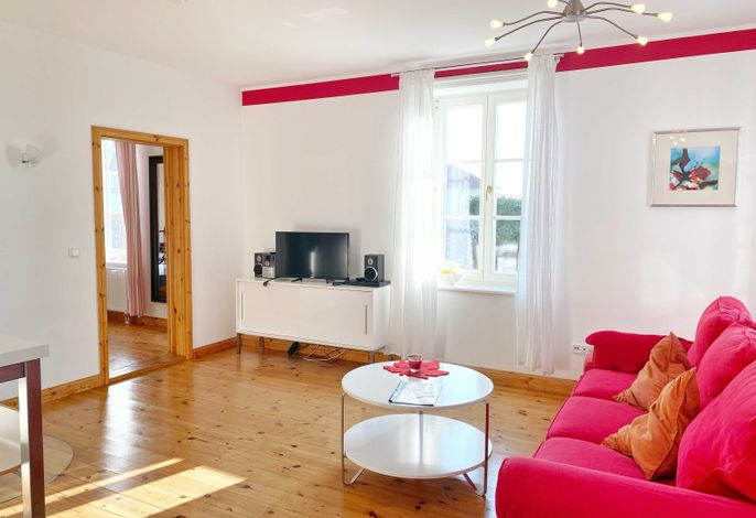 Wohnbereich im Appartement Red