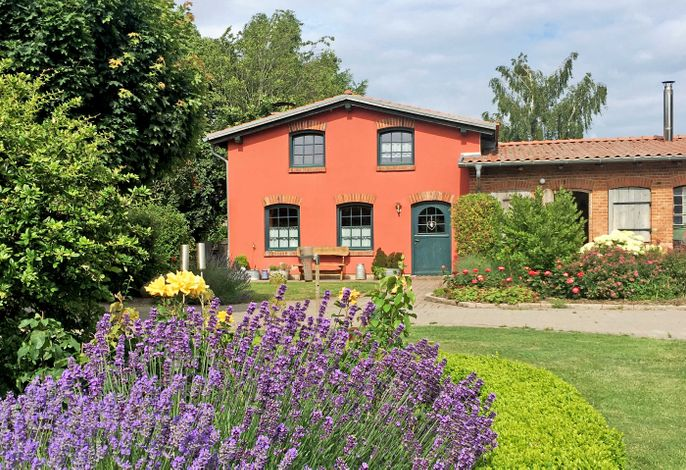 Ferienhaus mit Kamin auf dem Bauernhof bei Stahlbrode
