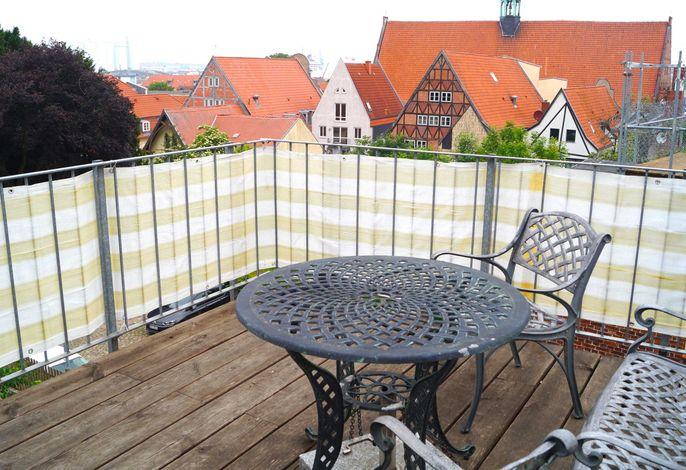 Altstadtdomizil - Sonnenterrasse über den Dächern Wismars