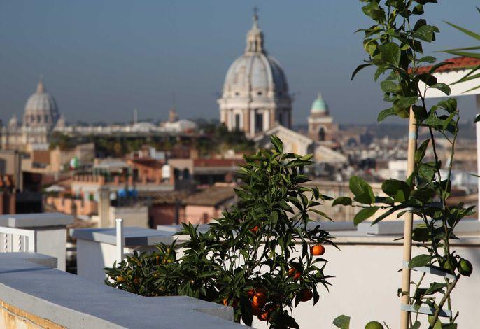 Ferienwohnung Spanische Treppe mit Panorama-Dachterrasse