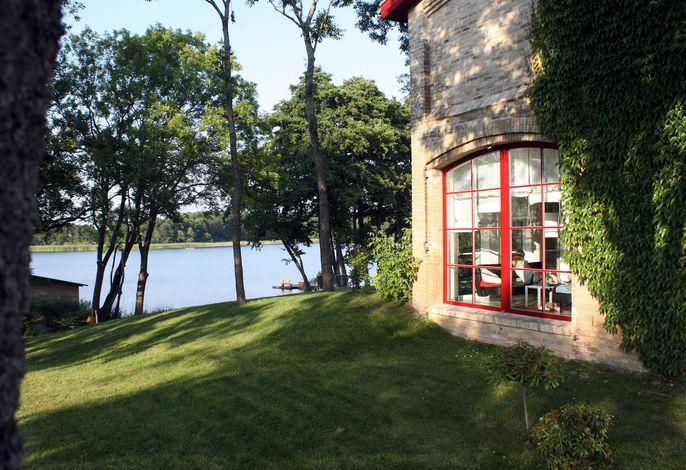Zwergtaucher mit Balkon - Scheune am Loppiner See