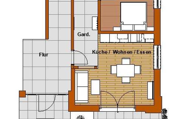 Grundriss Appartement Bergbua