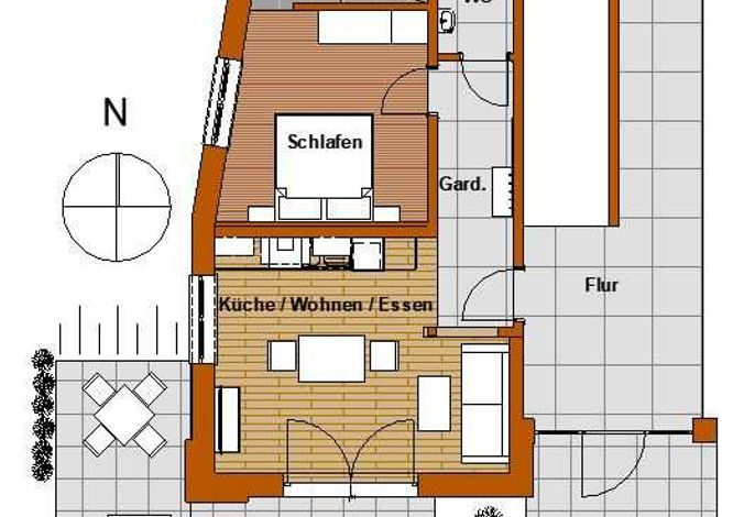 Grundriss Appartement Landmadl