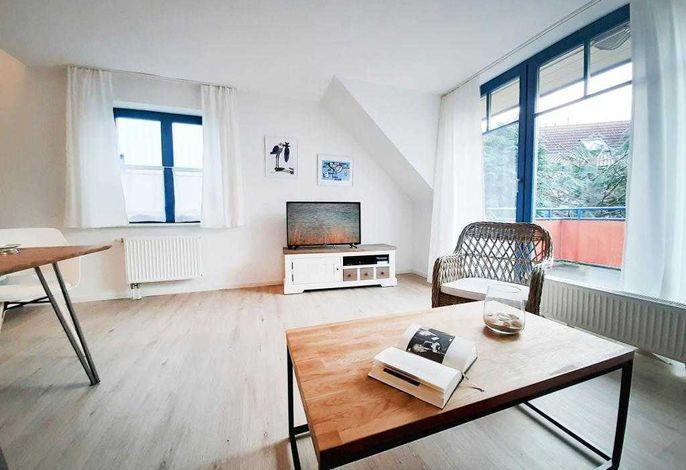 Papillon Wohnung 6-5- Wohnbereich mit TV