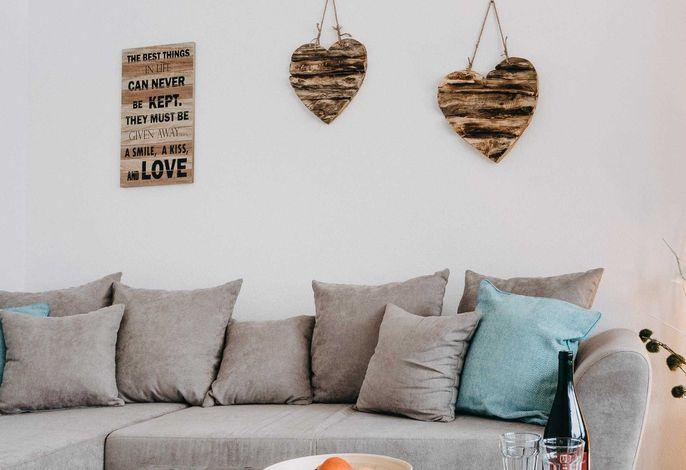 Ferienhaus Wolfswarte - Wohnzimmer