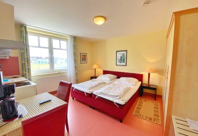 Doppelbett im Appartement