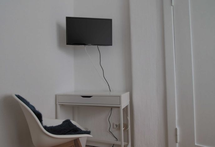 Sitzgelegenheit und TV