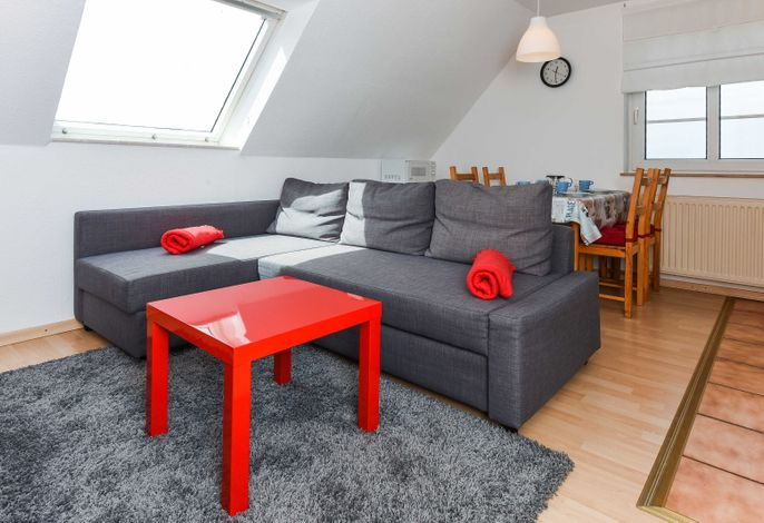 Wohnraum mit integrierter Küche