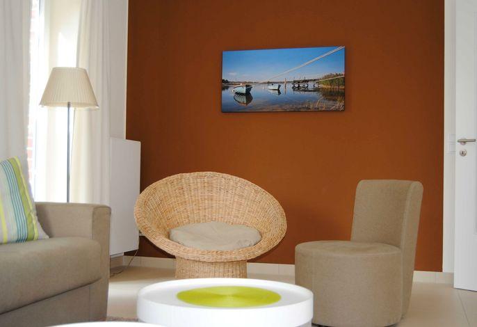 Wohnbereich Deck 2 mit gemütlichen Sitzmöbeln