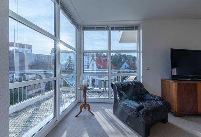 Seemöwe mit Balkon