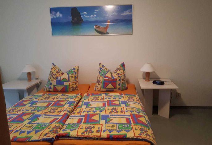 Schlafzimmer Ferienwohnung am Gregoriusberg