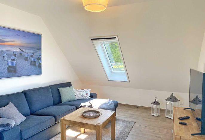 Wohnbereich unter der Dachschräge