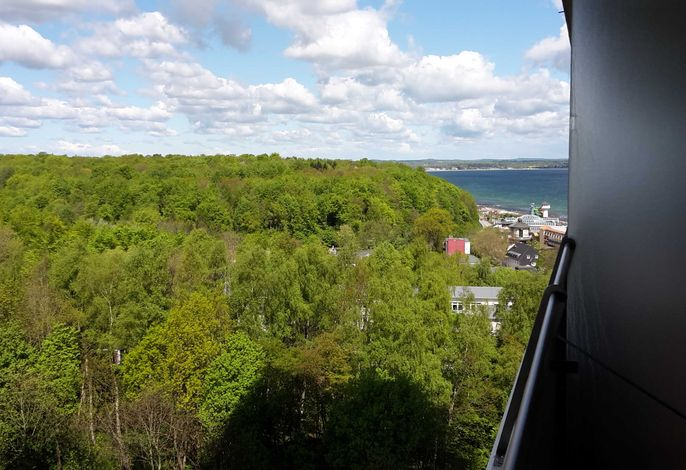 Ferienwohnung Ostseebrise - seitlicher Meerblick