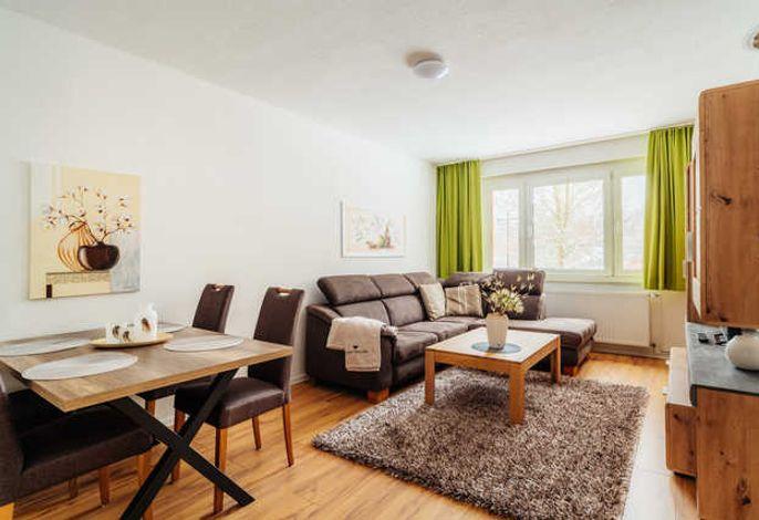 Wohnzimmer und Essen