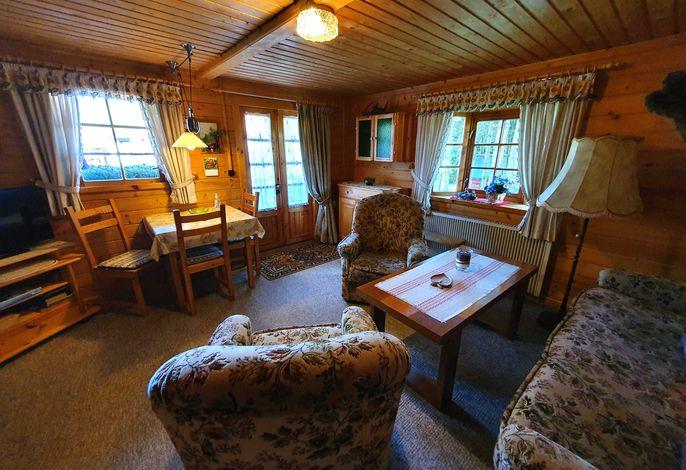 Wohnzimmer Blockhütte