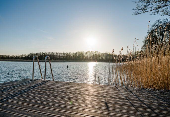 5* Ferienhaus - Naturpark-See-Sauna-Kamin-113m²