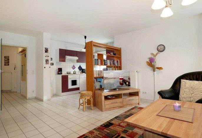Haus am Meer App.5- Blick durchs Appartement