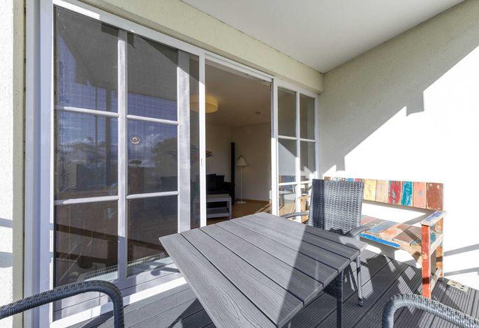 Jolle mit Balkon und Müritzblick