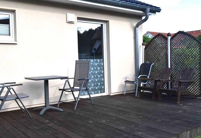 Möblierte Terrasse