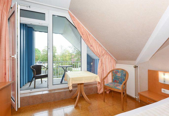 Einzelzimmer Fischreiher, Hotel-Pension Altes Siel