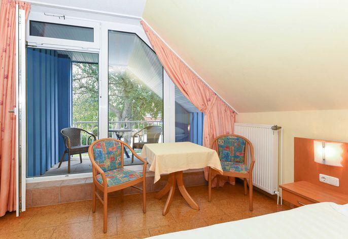 Doppelzimmer Muschel in der Hotel-Pension Altes Siel