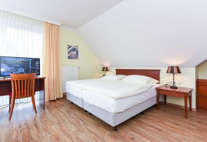 Familienzimmer im Obergeschoss im Hotel Benser Watt