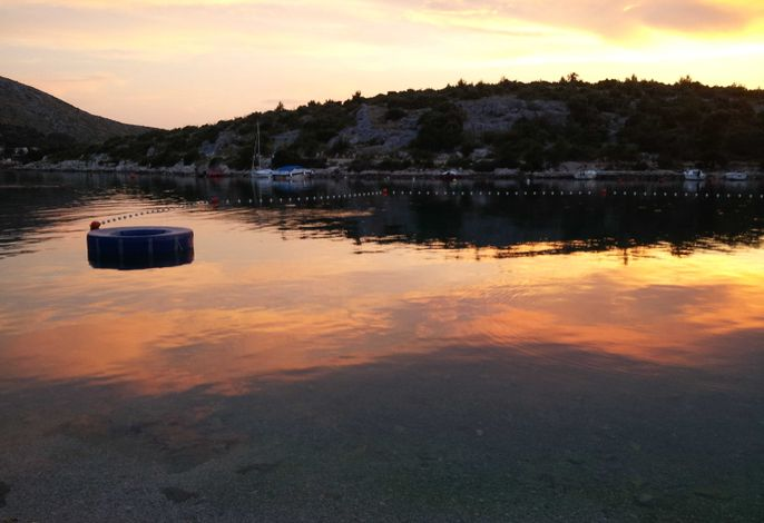 Die Bucht in die Nacht