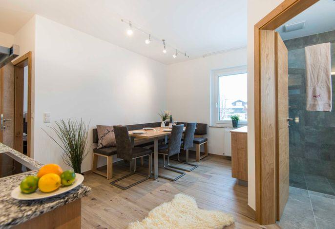 smartFlat L -gemütliches Appartement für bis zu 6 Personen, Bad mit Dusche/WC, Balkon(teilweise); Küche komplettausegstattet mit Herd, Backofen, Kühlgefrierkombination, Sat  TV(2x); WLan;  (Beispielbild Kategorie)