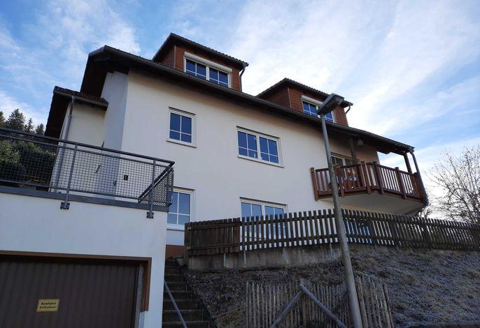 Zugang über die Treppe zum Haus