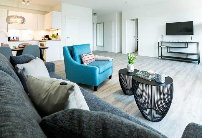 Hafenspitze App.2.18- Blick durchs Appartement