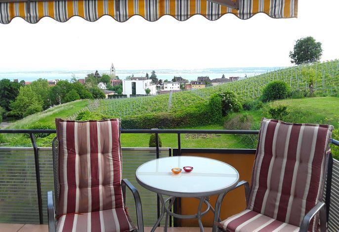 Balkon mit Blick auf den Bodensee
