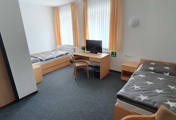 Einzelbetten im Doppelzimmer