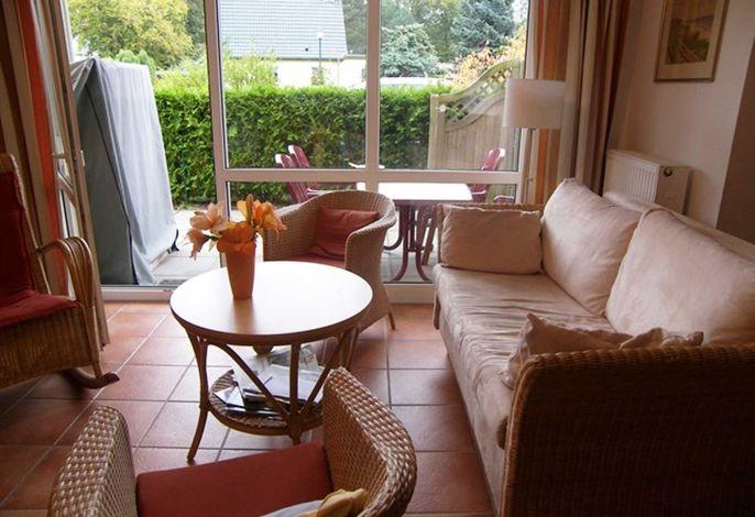 Sitzecke mit Blick auf die Terrasse