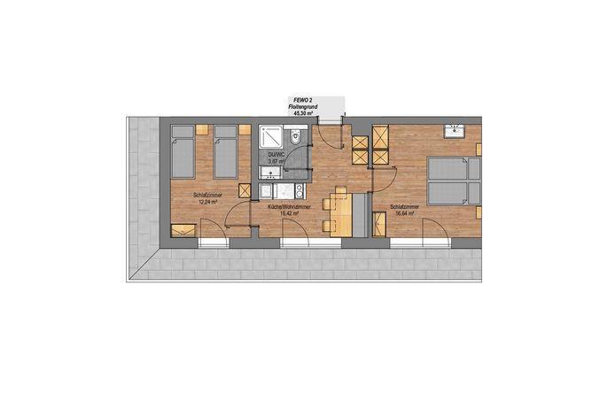 Apartment Floitengrund im Rosenhof - Grundriss
