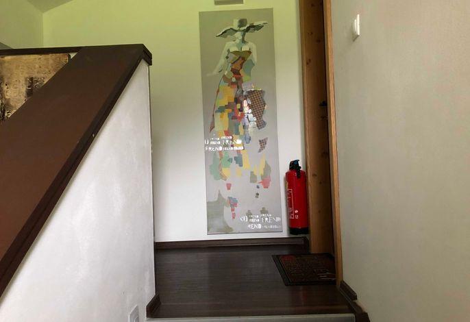 Stiegenhaus, Zugang Apartment Haldensee
