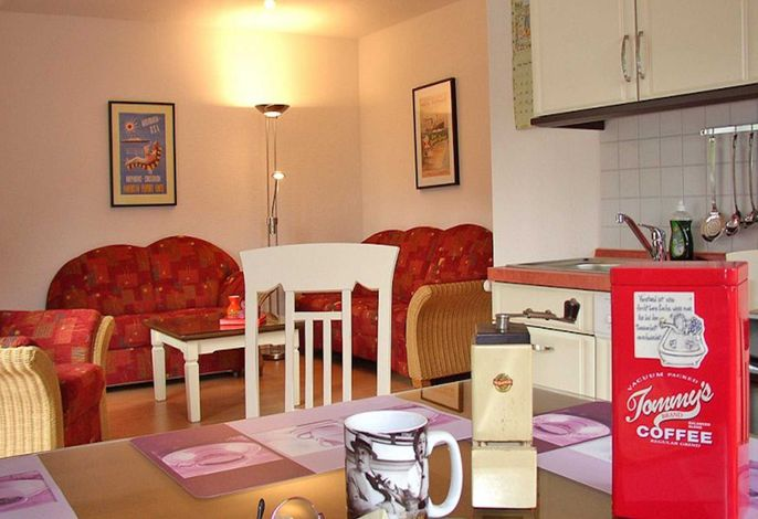 Wohnzimmer mit Küche (Beispieleinrichtung)