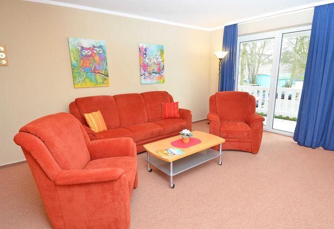 Ferienwohnung Schulte  im Ostseebad Baabe - Wohnbereich