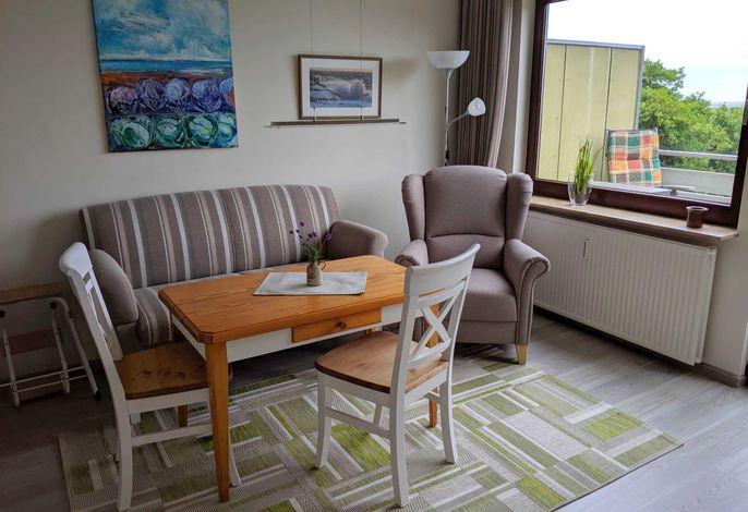 1-Raum Ferienwohnung im 2. OG mit Nordseeblick