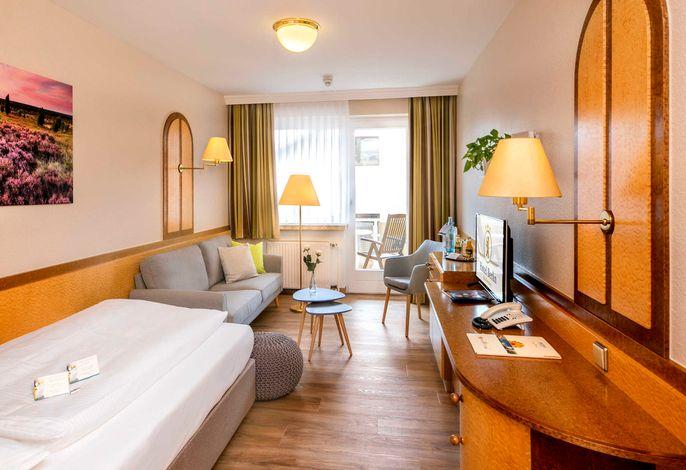 Komfort Einzelzimmer mit Südbalkon