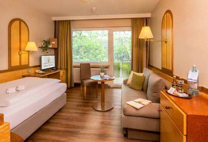 Komfort Einzelzimmer mit Balkon Nordseite