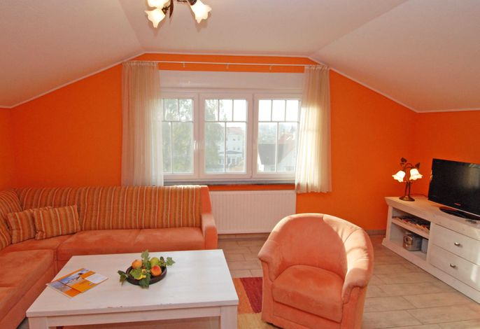 Villa am Meer im Ostseebad Sellin PH 1 Wohnzimmer