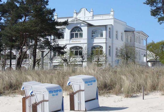 Die Villa Gudrun direkt am Strand, inkl. Nutzung eines Strandkorbes in der Badesaison