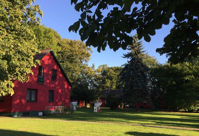 Blick zum Ferienhaus 1 und 2