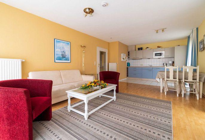Wohn/ Essbereich mit Küchenzeile