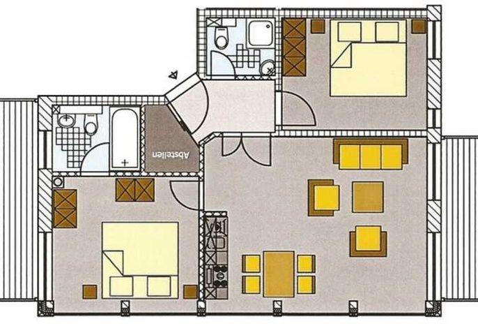 Villa Hansa, PH 6, 2 SZ, 2 Bäder, in Binz, 2 Balkone