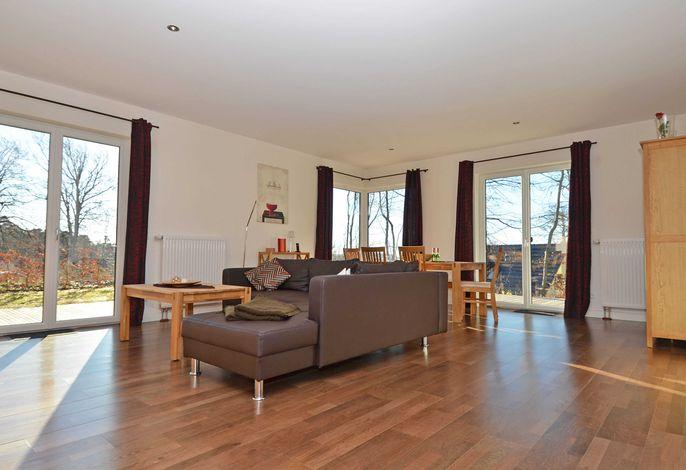 Villa Cliffkante im Ostseebad Sellin WG 02 Lodge Wohnbereich