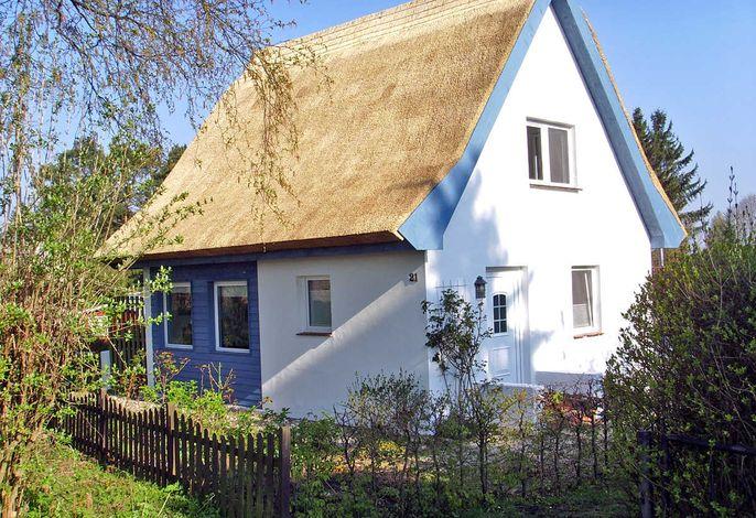 Reetdach-Ferienhaus im kleinen Fischerdorf