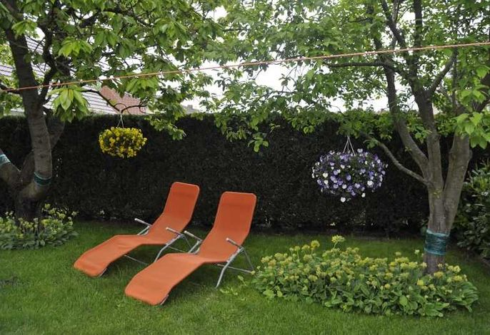 Gartenliegen zur Mitbenutzung
